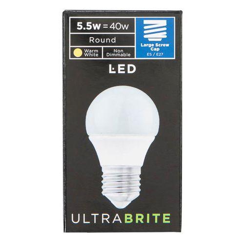 Led Ultra Brite Round Large Screw Bulb 5.5w=40w