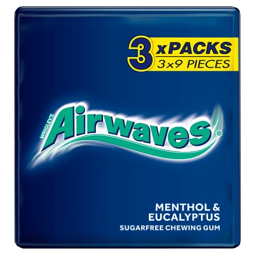 Wrigley Airwaves Menthol 3x9pieces