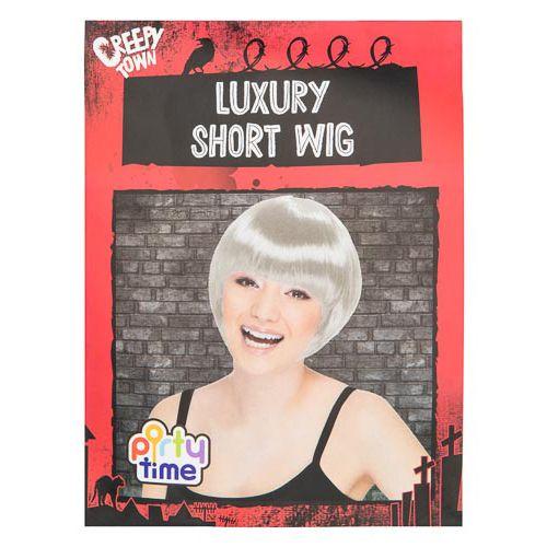 Halloween Short Silver Wig