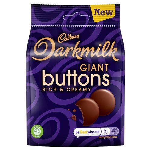 Cadbury Dark Milk Buttons 90g