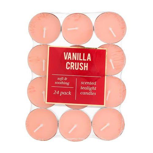 Scented Tea Lights Vanilla Crush 24 Pack