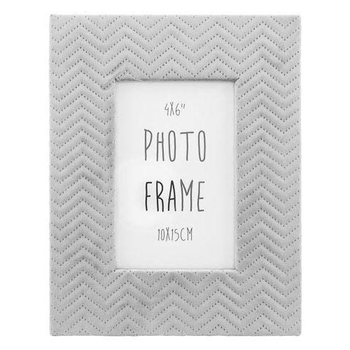 "Grey Suede Photo Frame 6""x4"""