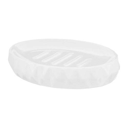 White Ceramic Geometric Soap Dish