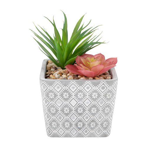 Artifical Succulents In Ceramic Pot
