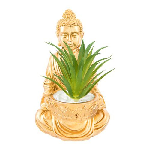 Buddha Ornament with Succulent