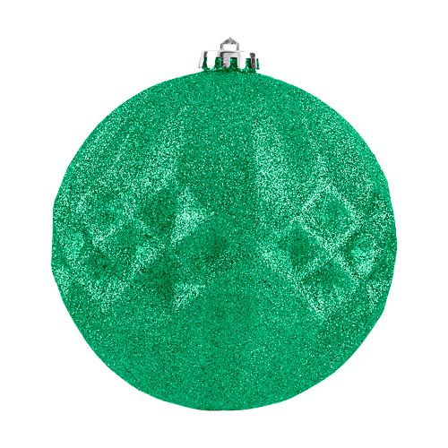XL Green Glitter Bauble