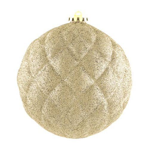 XL Glitter Gold Bauble