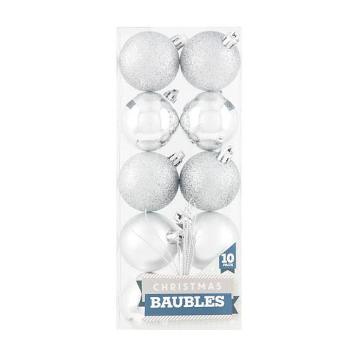 Baubles Silver 10 Pack
