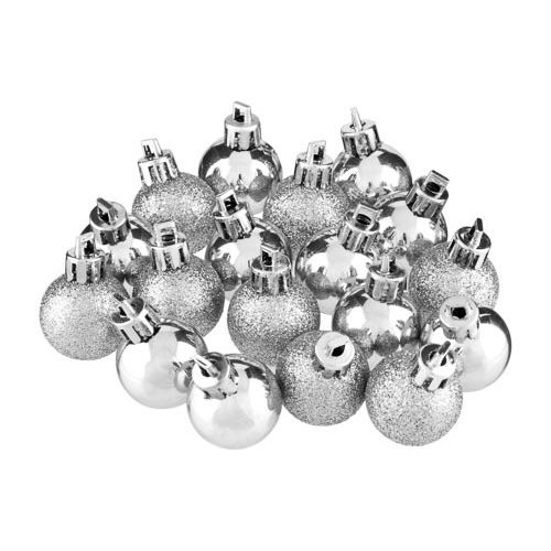 Baubles Silver 18 Pack