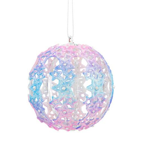Single Holographic Ball Tree Decoration