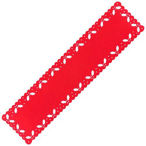 Lazer Cut Red Table Runner