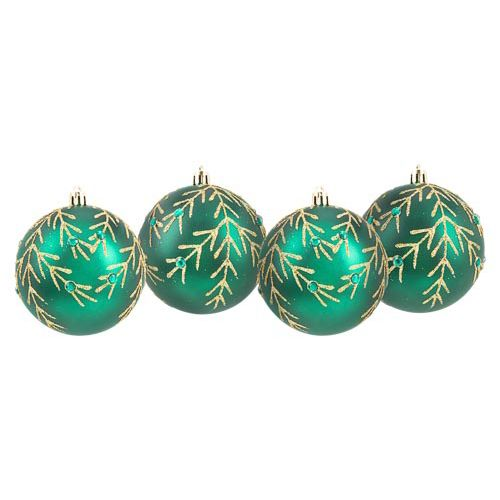 Green Baubles 4 Pack