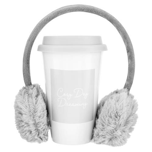 Grey Travel Mug and Muff Set