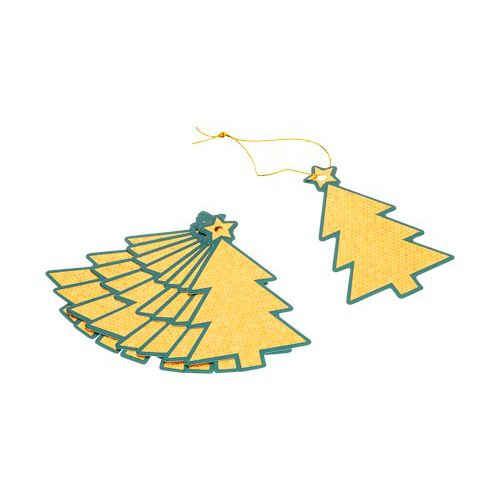 Luxury Golden Tree Tags 10 Pack