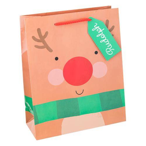 Medium Reindeer Gift Bag 2 Pack