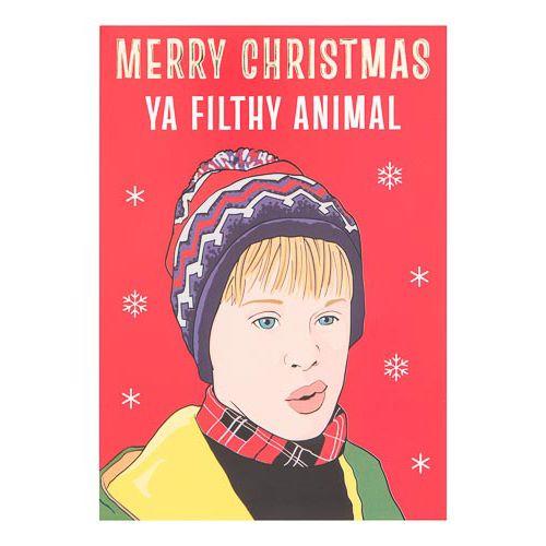 Single Banter Cards - Merry Christmas Ya Filthy Animal