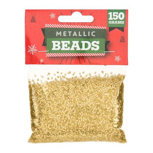 Craft Metallic Gold Beads