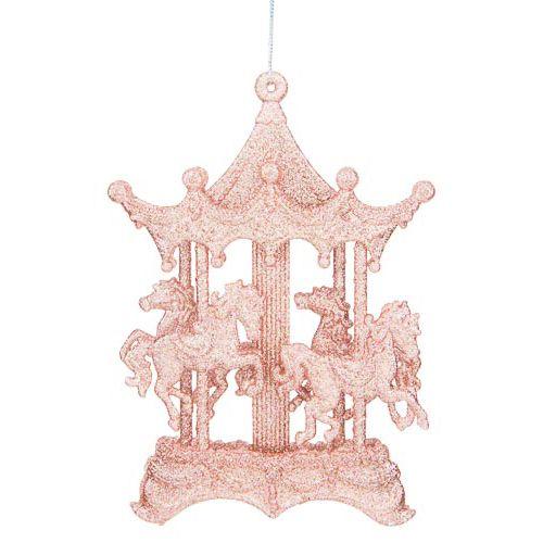 Single Tree Decoration Glitter Carousel