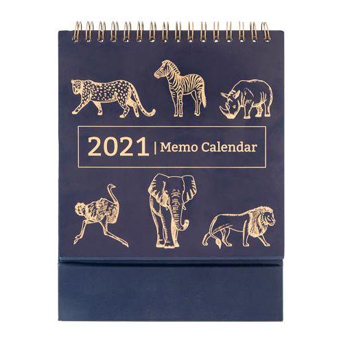 Camo Foliage Memo Calendar Foil Animal Print