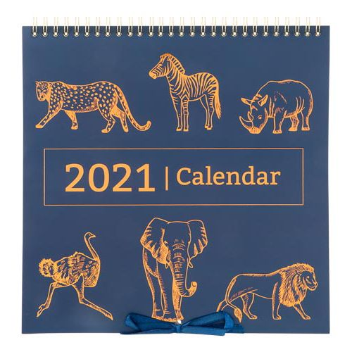 Camo Foliage Hanging Calendar Foil Animal Print