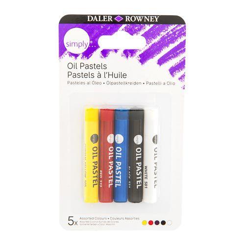 Daler-Rowney Simply Oil Pastel Set Core 5pk