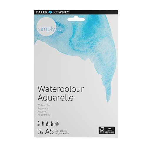 Daler-Rowney Simply A5 Water Colour Paper 4pk