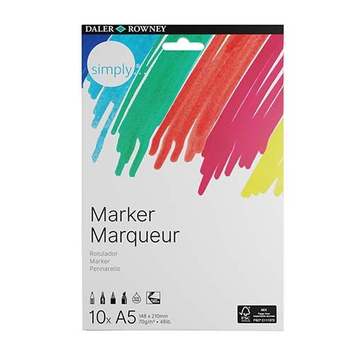 Daler-Rowney Simply A5 Marker Paper 10pk