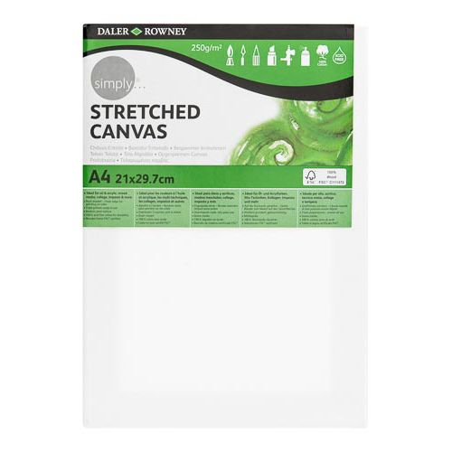 Daler-Rowney Simply Value Stretched Canvas A4