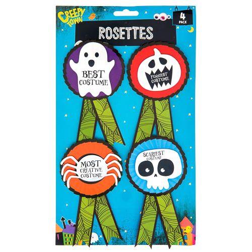 Halloween Rosette 4pk