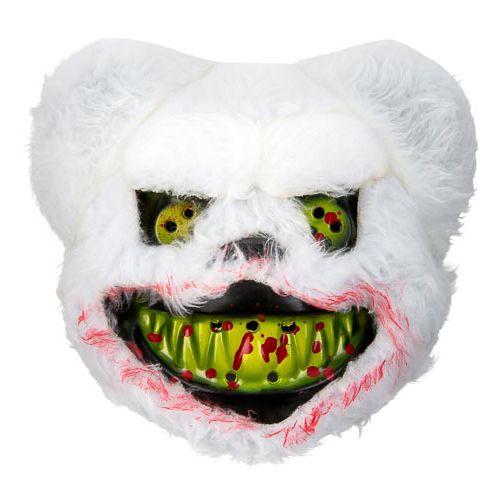 Furry Mask Bear White/brown