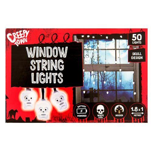 Pumpkin/skull Window String Lights