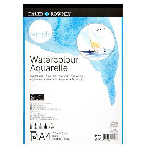 Simply Watercolour Pad A4 190g 12 Sheets