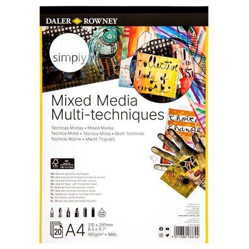 Simply Mixed Media Spiral Pad 160g 16 Sheets