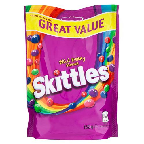 SKITTLES FRUITS BAG 152G