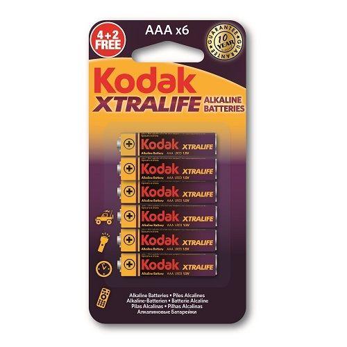 Kodak AAA Alkaline Batteries 6 Pack