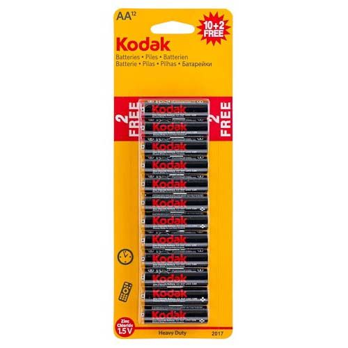 Kodak Aa Zinc Batteries 10+2 Free Pack