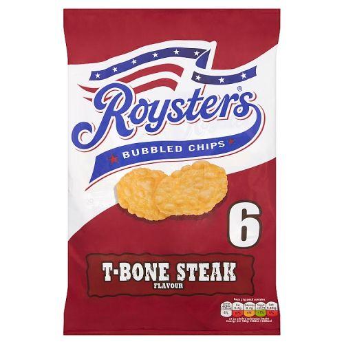 Roysters T-Bone Steak Flavour Bubble Chips 6 Pack