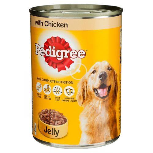 Pedigree Dog Food Tin Chicken In Jelly 385g