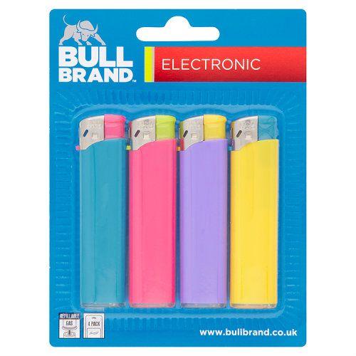 Bull Brand Electronic Lighters 4pk