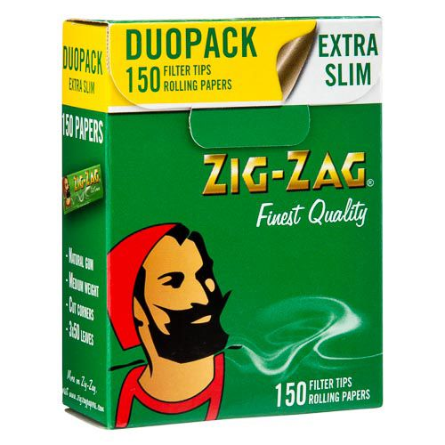 Zig Zag Extra Slim 150 Rolling Papers Duo Pack