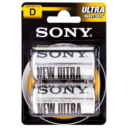 Sony D Zinc Batteries 2 Pack