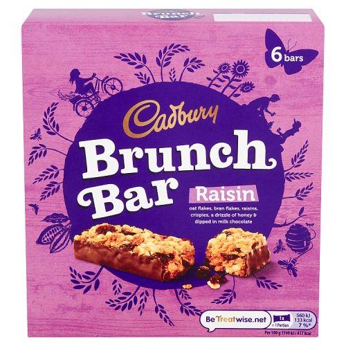 CADBURY BRUNCH BAR RAISIN 6 PACK