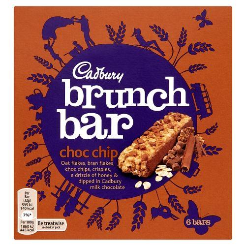 CADBURY BRUNCH BAR CHOC CHIP 6 PACK