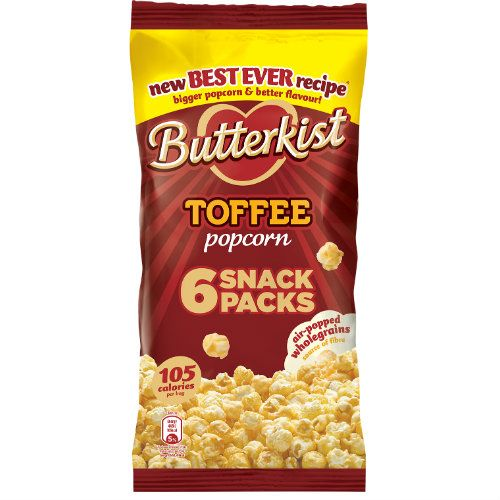 BUTTERKIST TOFFEE POPCORN 6 PACK
