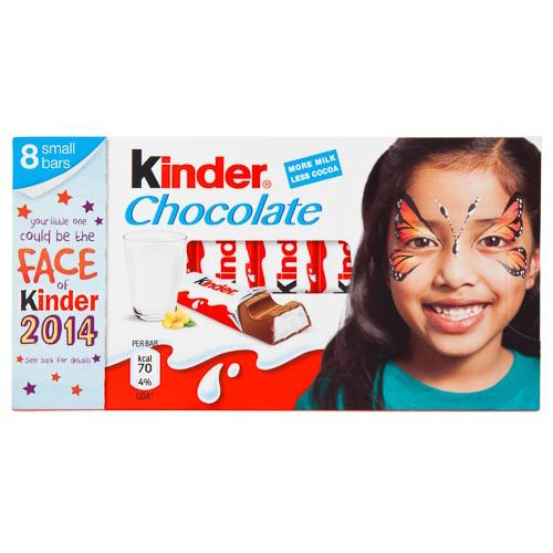 KINDER CHOCOLATE BARS 12G 8 PACK