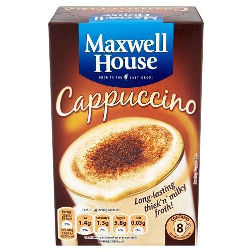 Maxwell House Cappucino Sachets 8x13.5g
