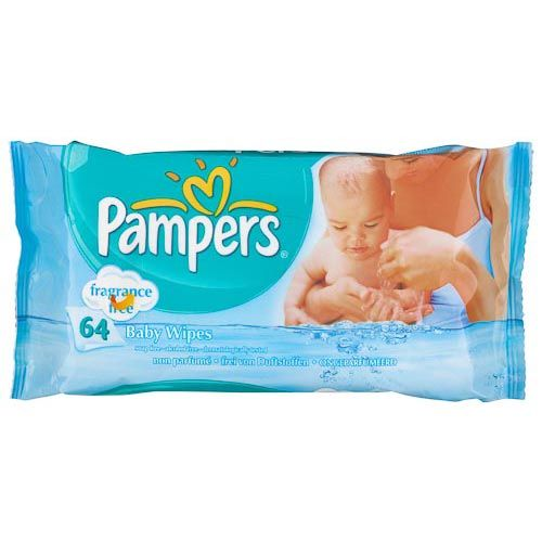 Pampers Unscented Wipes 64 Pack