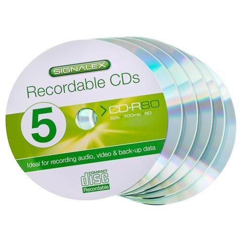 SIGNALEX CD-R 700MB (80 MINS) 5 PACK