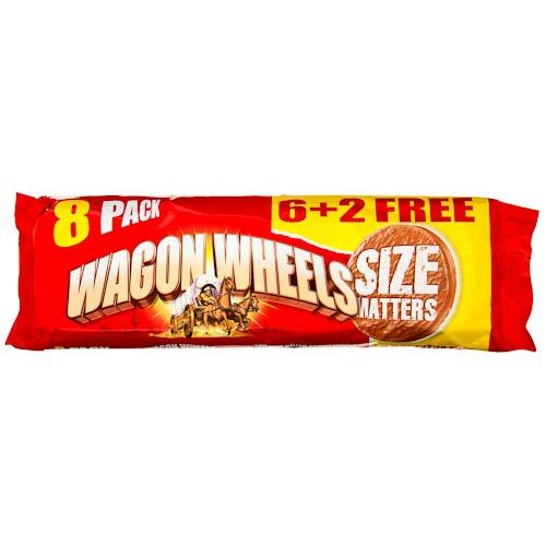 WAGON WHEELS ORIGINAL 6 PACK + 2 FREE