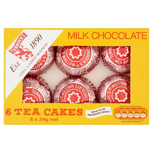 Tunnocks Milk Chocolate Teacakes 6 Pack
